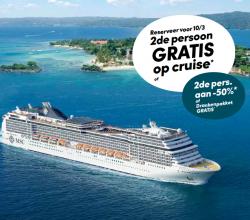 2de persoon gratis op cruise